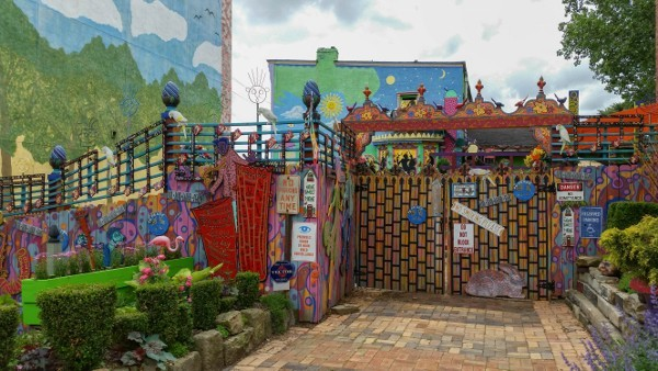 Outside of Randyland in the North Side, Pittsburgh