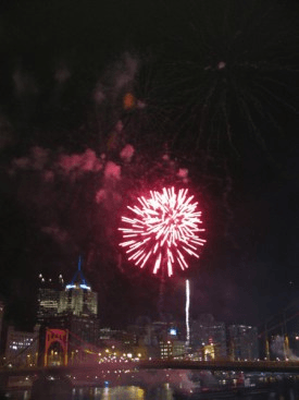 Pittsburgh Fireworks from the Bridges