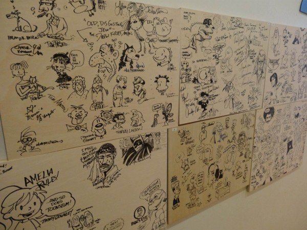 Artist Wall at the ToonSeum