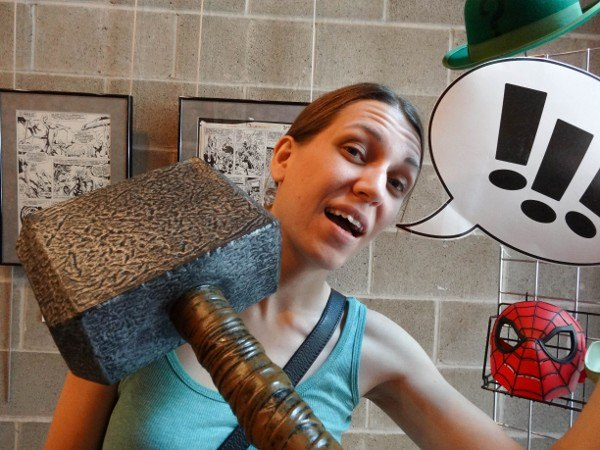 Goofing Off at the Avengers' Exhibit at the ToonSeum