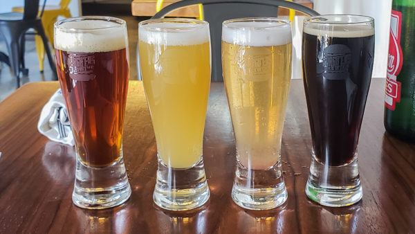 Beer Flight at Burgh'ers Lawrenceville