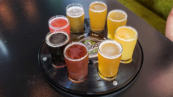 Flight at Inner Groove Brewing