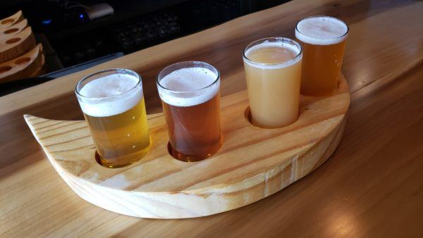 Flight at New Crescent Brewing