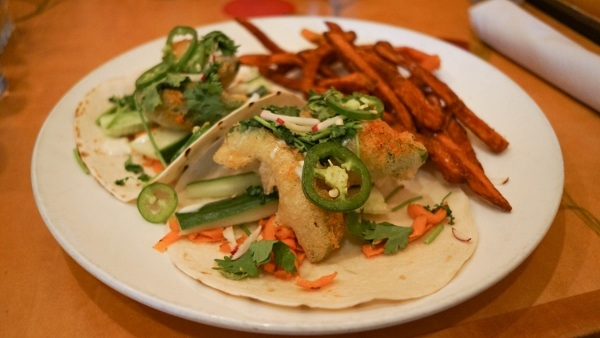 Fried Avocado Tacos at Kaya in Pittsburgh