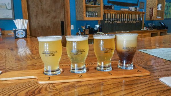 Flight at Missing Links Brewery