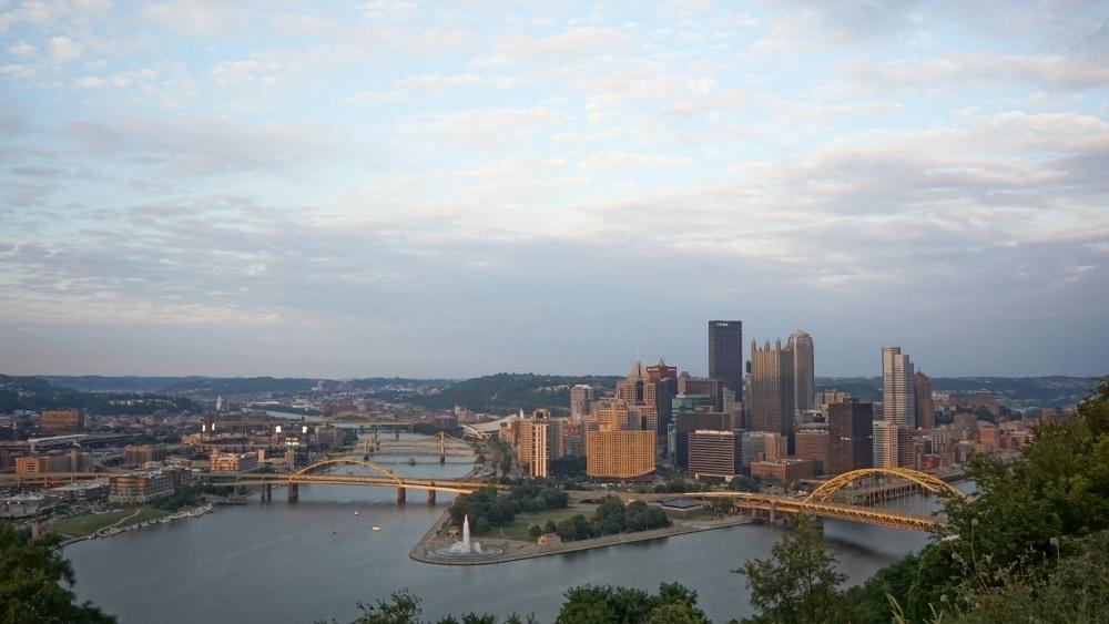 Pittsburgh at dusk from Mount Washington