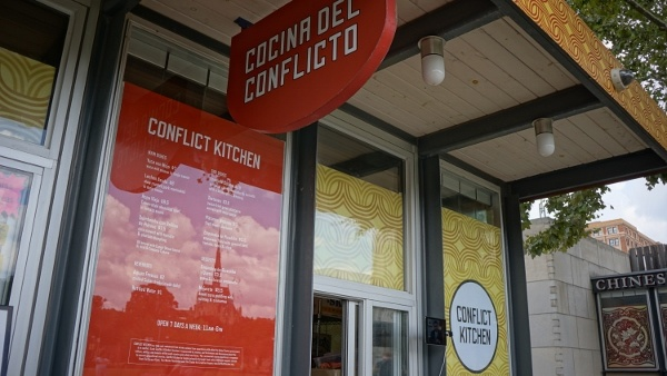 Storefront of Conflict Kitchen