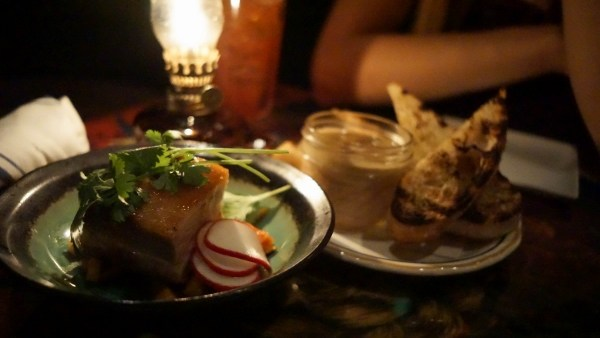 Pig Candy and Duck Pate at Butcher and the Rye