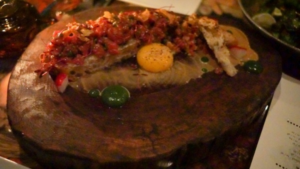 Beef Tartare at butcher and the Rye