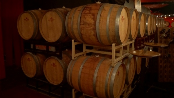 Barrels at Pittsburgh Winery