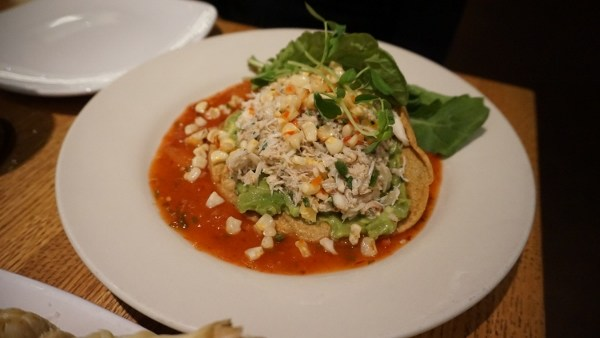 Crab Tostada at Verde in Pittsburgh