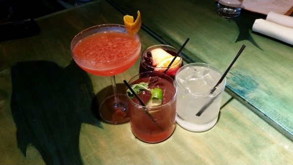 Spread of Cocktails from Kaya in Pittsburgh