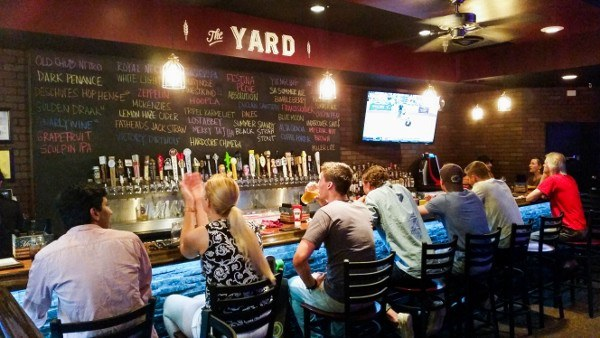 The bar at The Yard in Pittsburgh