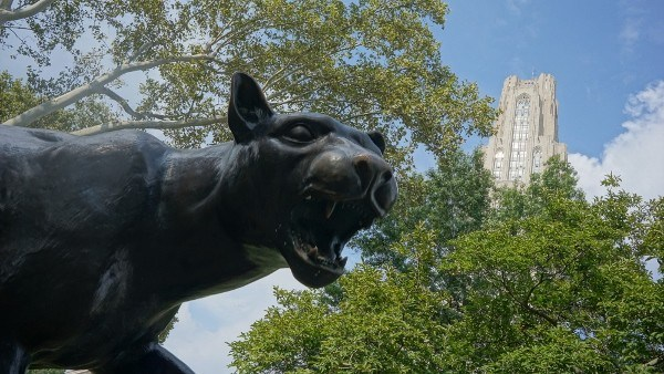 Pitt Panther and the Cathedral of Learning