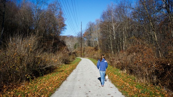 Hiking the Montour Trail in Pittsburgh