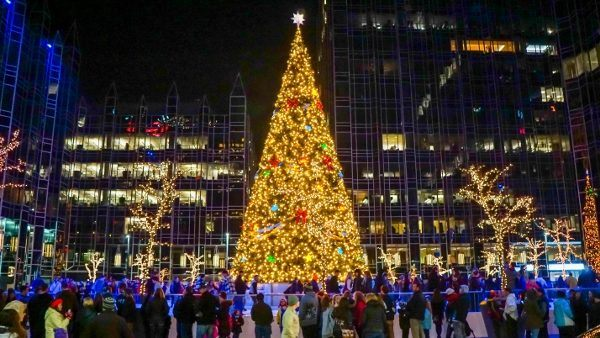 PPG Place Ice Rink in Pittsburgh
