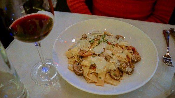 Pappardelle e Funghi Pasta at il Pizzaiolo