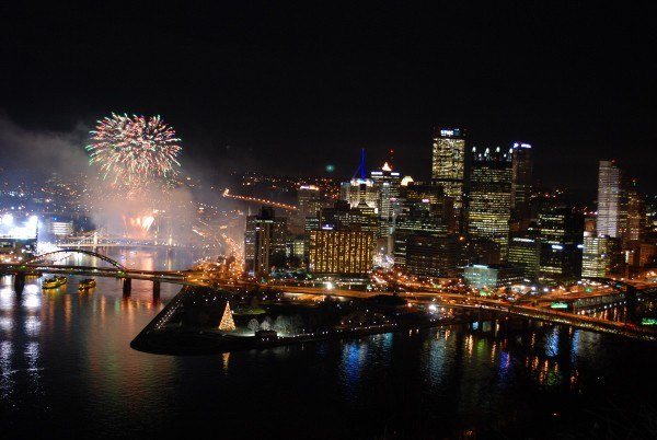 Downtown Pittsburgh on Light-Up Night