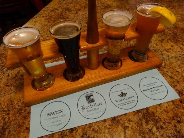 Beer flight at Max's Allegheny Tavern