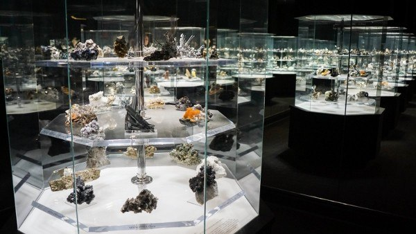 The Hall of Gems at the Carnegie Museum of Natural History