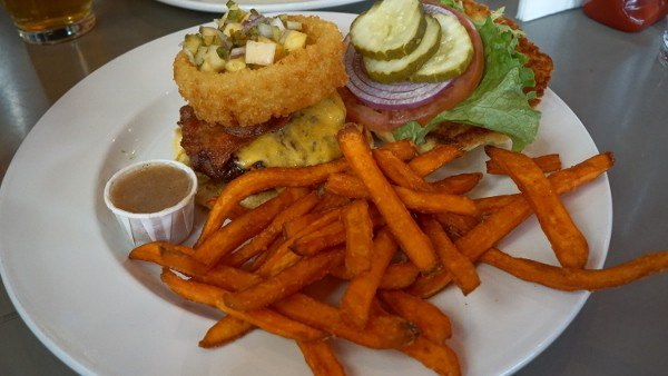 Hawaiian Burger at Double Wide Grill