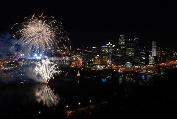 Light Up Night Fireworks from Mt. Washington Pittsburgh