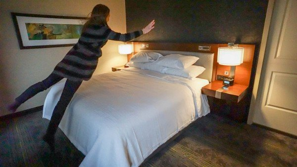 Testing the Bed at the Embassy Suites Downtown Pittsburgh