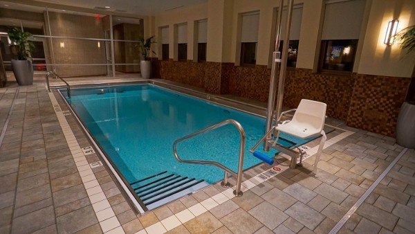 Pool at Embassy Suites Pittsburgh on the 25th Floor
