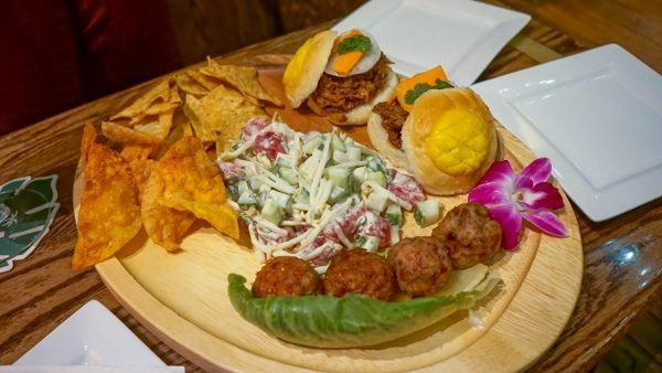 Pu Pu Platter at Hidden Harbor
