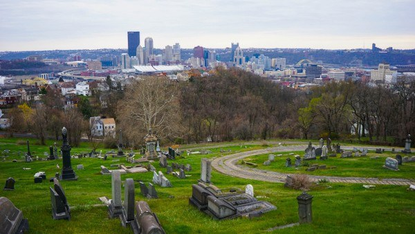 Pittsburgh from St. John's Lutheran Cemetery