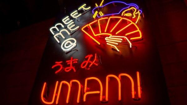 Menu at Umami