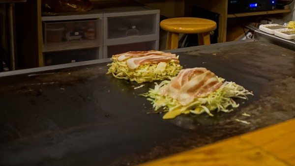 Okonomiyaki Being Prepared in Pittsburgh