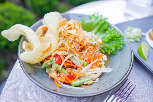 Spicy Papaya Salad at Pusadee's Garden