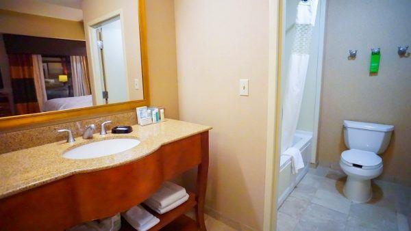 Bathroom at Hampton Inn Downtown Pittsburgh