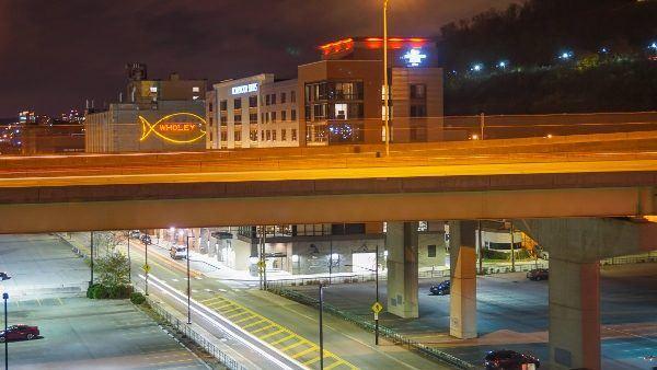 Strip District view from Hampton Inn Downtown Pittsburgh