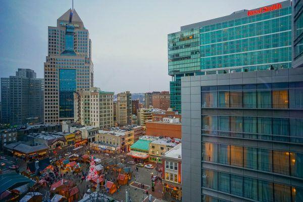 Downtown Pittsburgh from the Hilton Garden Inn