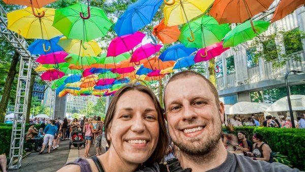 Umbrella Sky Project at the Three Rivers Arts Festival