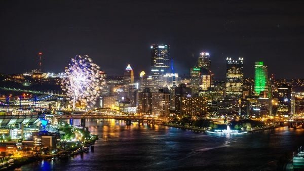 Fireworks from the West End Overlook