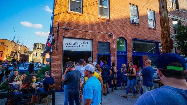 Line at Allegheny City Brewing