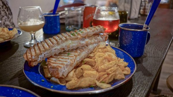 Crab Grilled Cheese at Merchant Oyster Co