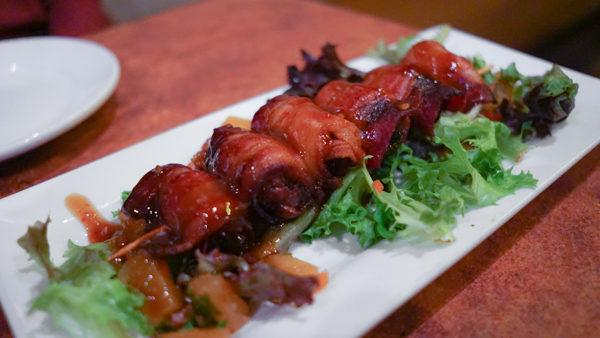 Bacon Wrapped Dates at Dive Bar