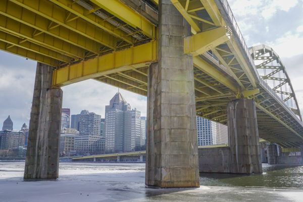 Frozen Pittsburgh in January 2018