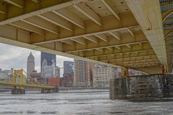 Underneath the Clemente Bridge in Winter