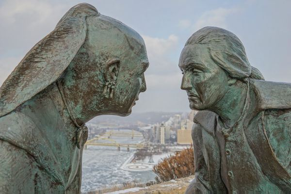 Point of View Statue in Winter