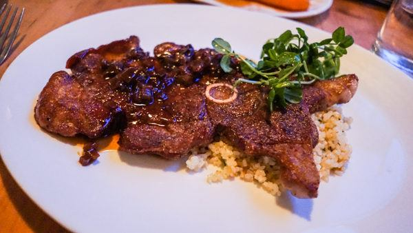 Lamb Steak at Legume