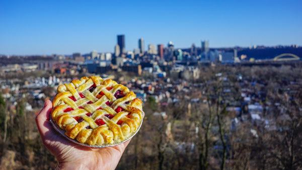 Our pie in Pittsburgh (view not included with pie class).