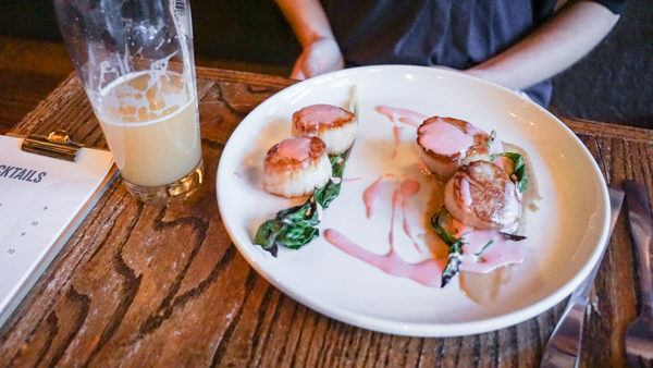 Scallops at Independent Brewing Company