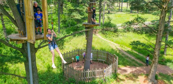 Tarzan Swing at Go Ape Pittsburgh