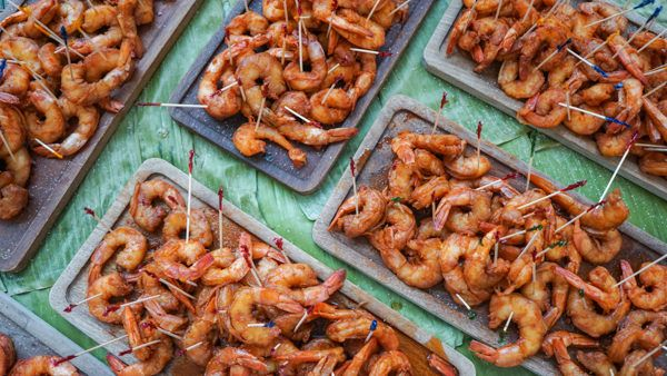 Shrimp Feast at the Best Restaurant Party