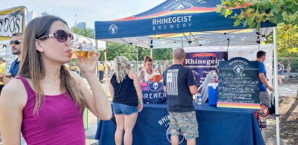 Sampling Rhinegeist at Pittsburgh Beerfest